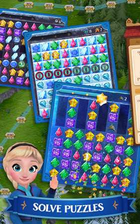 Disney Frozen Free Fall Play Frozen Puzzle Games