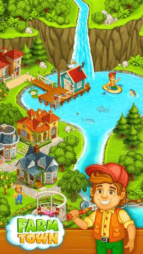 Farm Town Happy City Day Story Android