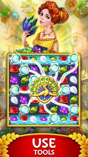 Jewels of Rome Match gems to restore the city Apk