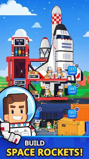 Rocket Star Idle Space Factory Tycoon Game Mod Apk
